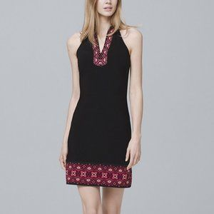 WHBM Embroidered Collar Dress